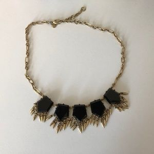 Black + Gold J. Crew Statement Necklace